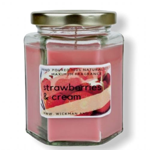 Strawberries & Cream Soy Wax Candle